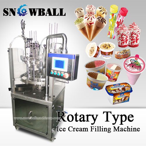 An Versatile Machinery For Factory - Rotary Ice Cream Filler